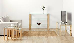 glass coffee table nest george home winston nest of tables oak and glass home u0026 garden