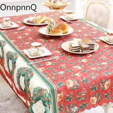nappe de cuisine rectangulaire noel juta café table de noël arbre décorations pour la maison de