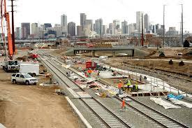 denver light rail expansion map rtd light rail construction dailycamera
