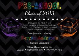 graduation invite preschool graduation invitations kawaiitheo com
