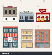 building house home store apartment vector stock vector 529360483