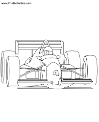 race car coloring formula car front