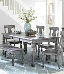 dining room table set round dining set 4 gray dining chairs modern grey oak dining table