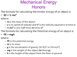 mechanical energy honors