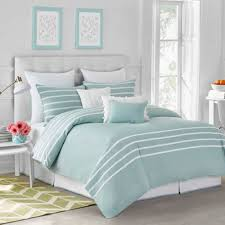 Blue Striped Comforter Set Capri Stripe Comforter Set Seaside Aqua Jill Rosenwald