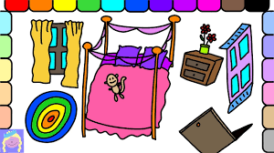 learn how to draw barbie u0027s bedroom easy drawing and coloring for