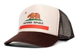 California Republic Flag California Flag Cali Unisex One Size Trucker Hat Cap Tan