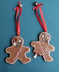 gingerbread creepy ornaments set of 2