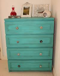 ikea malm dresser painted in autentico bright turquoise and