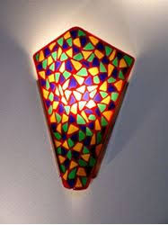 trees fused glass wall sconce artisan crafted lighting