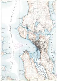 Map Of Lake Washington by Download Topographic Map In Area Of Seattle Sheridan Beach