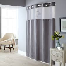 Gray Shower Curtain Liner Basketweave 2 Pc Fabric Shower Curtain U0026 Liner Set