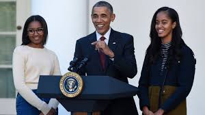 daughters gobble up president obama s jokes at turkey pardon