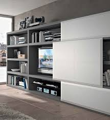 meuble tv caché meuble tv porte coulissante cache television malouet design