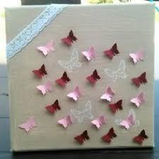deco chambre papillon cadre enfant papillons origami décoration murale bébé et