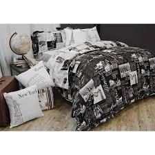 passport reversible duvet cover set cotton bed bath beyond our next bed set