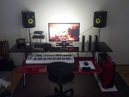 Red And Black Bedroom by Biginfrikinhevi Red And Black Home Studio Desk Ikea Hackers