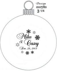 customer designed wedding favor ornament