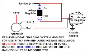 wire burned on voltage regulator for c bodies only classic mopar
