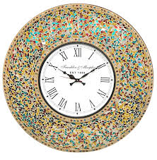 silent wall clocks decorshore 23 inch decorative wall clock silent clock with