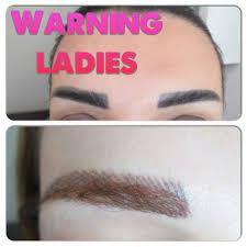 eyebrow tattoo using the micropigmentation technics