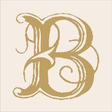 monogram letter s b est of 2010 day 2 custom letters deco bold stencil letter