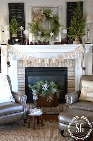 farmhouse christmas mantel mantels decoration and winter