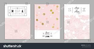 collection romantic invitations gold glitter texture stock vector