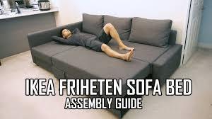 Ikea Ottoman Bed Ikea Friheten Sofa Bed Assembly Guide Youtube