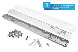 4 Led Light Fixtures T8 Vapor Tight Led Light Fixture For 2 Led T8 Industrial