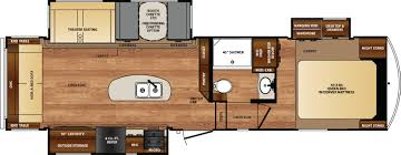 Forest River Cardinal Floor Plans Fifth Wheel Forest Rv Wildcat Fifth Wheels Floorplans By Forest River Rv Colonia Del