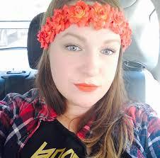 headband floral orange flower crown headband floral crown flower halo