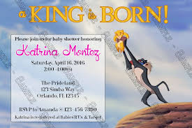 lion king baby shower invitations novel concept designs a king is born the lion king baby