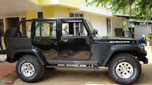 modified 4 door jeep wrangler pic a neatly modified mahindra armada team bhp