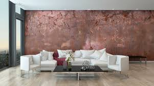 industrial style wallpaper abstract motif non woven copper