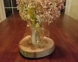 wood slices wood round centerpiece wood slab decor live