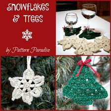 free crochet pattern snowflakes u0026 trees coasters u0026 garland