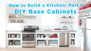 how to build a base for cabinets to sit on the total diy kitchen part 1 base cabinets