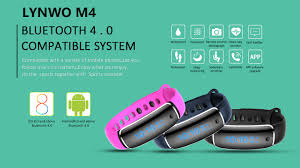lynwo m4 health blood pressure band heart rate monitor wristband