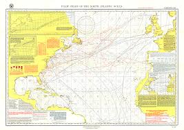 map usa oceans pilot chart of the atlantic map