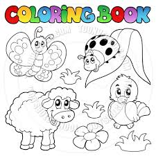 coloring book cartoon spring face cartoon coloring book spring