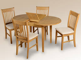 Dining Table 4 Chairs Set Oxford 105cm Oak Extending Dining Table And 4 Chairs Set