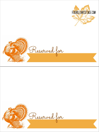 thanksgiving turkey place card template bootsforcheaper