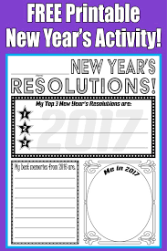 free printable 2017 new year u0027s resolution activity