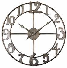 oversized wall clocks silver frame furniture decor trend oversized wall clocks silver frame