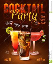 cocktail party poster stock vector image 47032029
