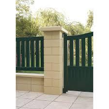 bloc de pierre pour mur pilier pilier portail béton leroy merlin