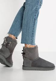 ugg sale zalando lounge ugg mini bailey bow ii boots grey zalando co uk