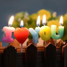 happy birthday candles aliexpress buy i you letter happy birthday candles