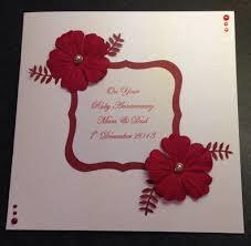 wedding anniversary cards handmade ruby wedding anniversary card craft ruby
